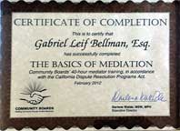 mediation certificate